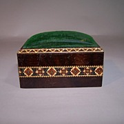 Large Tunbridge Ware Rosewood Pin Cushion Box, c.1870