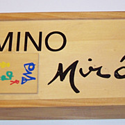 "Joan Miro ""Domino Miro"" Dominoes, Limited Edition (2000 Sets) ""Parler Seul"" (Tristan Tzara) Illustrations, c. 1958"