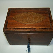 Sheraton Period Fruitwood Tea Caddy, c.1785
