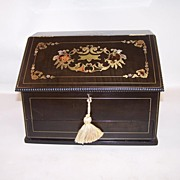 Napoleon III French Boulle Stationery Box, c.1850