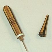 Tunbridge Ware Lace Sewing Implement, Stickware Type, c.1840