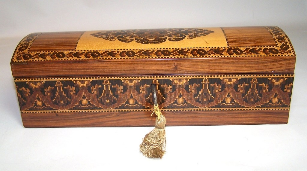 Tunbridge Ware Glove Box, c.1850
