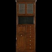 Doctor or Dentist Medical Cabinet, 1900 Oak Antique for Bathroom