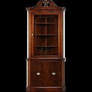 Traditional Mahogany Vintage Corner Cabinet