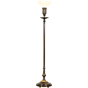 Floor Lamp, Signed Colonial Premier, Night Light Base