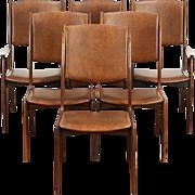Set of 6 Rosewood Midcentury Danish Modern 1960 Vintage Dining Chairs