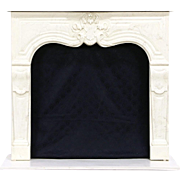 Cultured Faux Marble Fireplace Mantel, Surround & Hearth