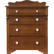 Child Size Antique Walnut Dresser, Jewelry or Collector Chest