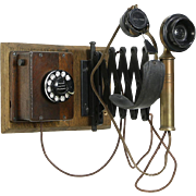 Railroad Antique Wall Phone, Scissors Bracket, Pat. 1915, Western Electric