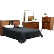 Profile by Drexel Van Koert Midcentury Modern 1960's Vintage 3 pc. Bedroom Set