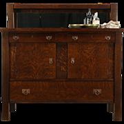 Arts & Crafts Mission Oak 1905 Antique Sideboard, Server, Buffet