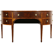 Georgian Vintage Demilune Server Sideboard or Console, Signed Brian Andrew