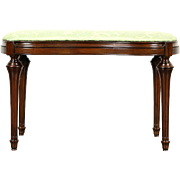 Kidney Shape Carved Maple Traditional 1925 Era Bench