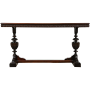 Renaissance Carved 1915 Antique Mahogany Hall, Foyer or Sofa Table