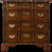 Baker Signed Georgian Design Vintage Block Front Chest or Dresser