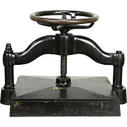 Large Antique Iron Bookbinder Book Press,  220 lbs
