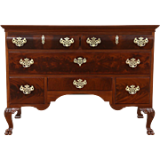 Georgian Chippendale 1900 Antique Carved Mahogany Hall Chest or Dresser