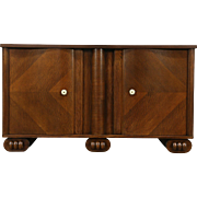 Art Deco Oak Vintage Scandinavian Sideboard or TV Console Cabinet