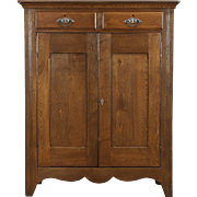Pie Safe 1890's Antique Pantry Cupboard, Oak & Ash