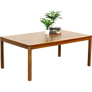 Midcentury Danish Modern Copper Top 1960's Vintage Teak Coffee Table