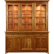 Stickley Signed Cherry Craftsman Design 1995 China Display Cabinet or Hutch
