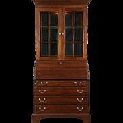 Traditional Vintage Mahogany Secretary Desk & Bookcase, American of Martinsville