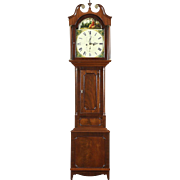 Scottish Georgian Antique Long Case Grandfather Clock Signed Pringle of Dalkeith