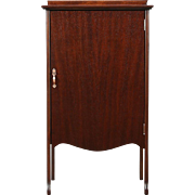 Music File Cabinet, 1900 Mahogany Antique, 5 Shelves