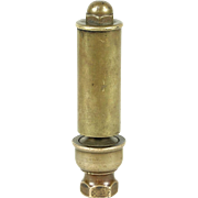 Railroad Antique 1900 Brass Steam Whistle, Working