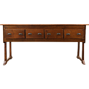 Country Pine Antique 1900 Kitchen Island, Counter, Wine & Cheese Tasting Table