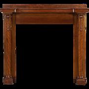 Art Nouveau Architectural Salvage 1900 Antique Carved Fireplace Mantel