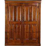 Country Pine 1870 Antique Pantry Cupboard