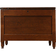 Walnut Rustic Antique 1890 Small Chest or Trunk, Coffee Table