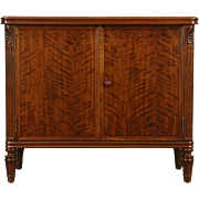 Stow Davis Signed Executive Office 1950's Vintage Walnut Console Cabinet