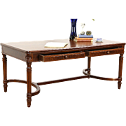 Stow Davis Signed Executive 1950's Vintage Walnut Library Table Writing Desk
