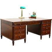 Stow Davis Signed 1950's Vintage Walnut Library Executive Desk