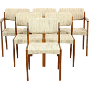 Set of 6 Midcentury Danish Modern Teak Dining Chairs, Signed Bramin, Denmark