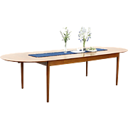 Midcentury Danish Modern Vintage Teak Dining Table, Extends 9 1/2' Signed Sibast