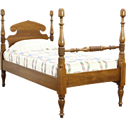 Butternut 1840's Antique Twin or Single Acorn Poster Bed