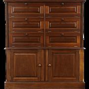 Drug Store Antique 1900 Walnut Pharmacy Medicine Apothecary Cabinet