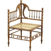 Victorian 1890 Antique Stick & Ball Corner Chair