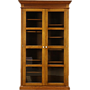 Pine Antique 1900 College Bookcase, Pantry or Display Cabinet