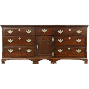 Oak English 1840 Antique Sideboard Server or Linen Chest
