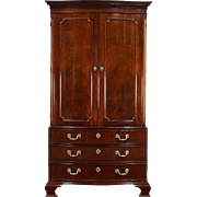 Baker Signed Vintage Traditional Mahogany Armoire, TV Console or Closet
