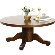 Oak Quarter Sawn Coffee Table from 1900 Antique Dining Table