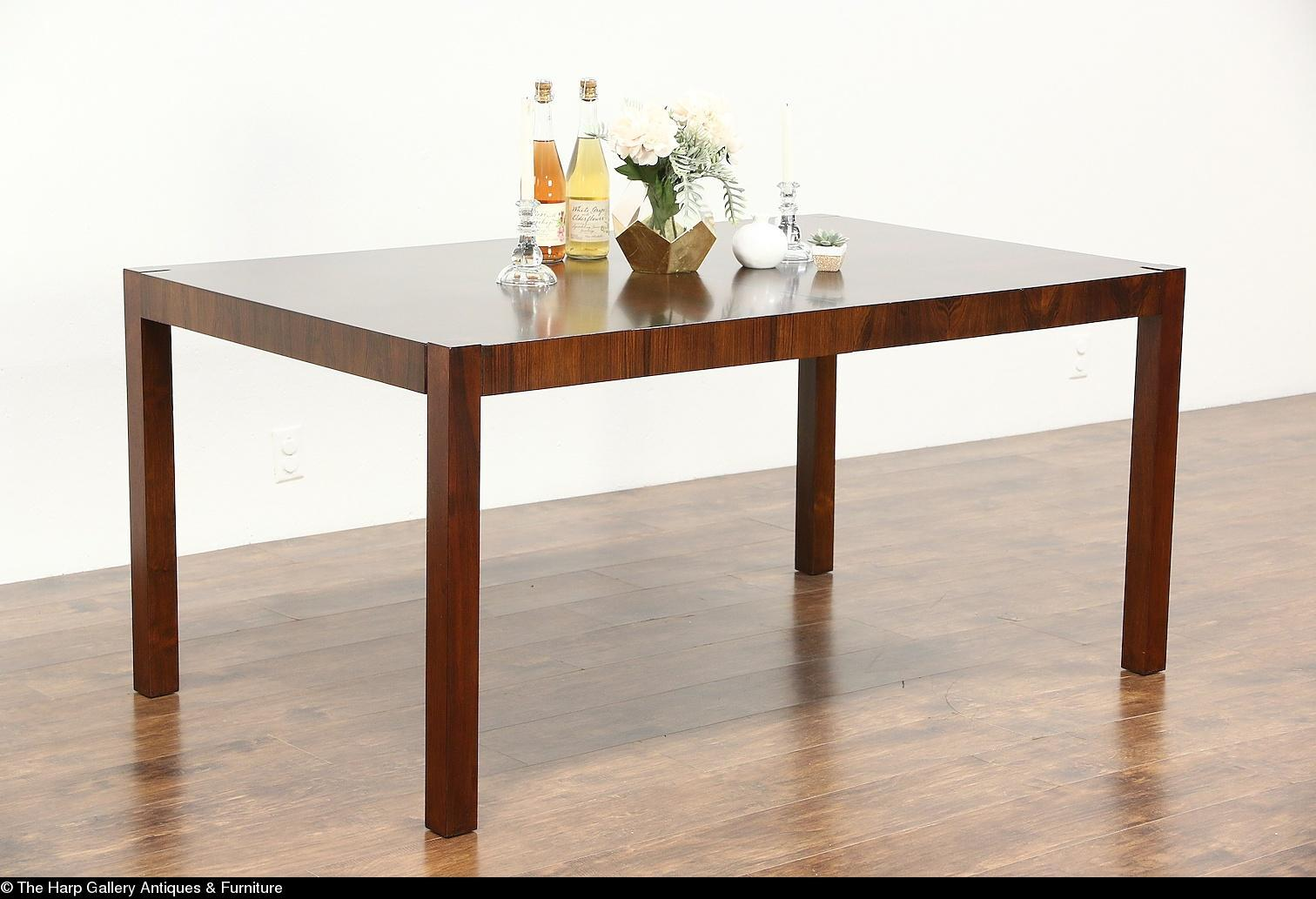 Rosewood Midcentury Modern Vintage Dining Table Signed Index by
