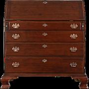Cherry 1820's Antique Federal Period Hand Made Secretary Desk