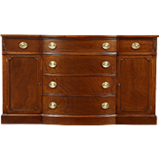 Drexel Signed Vintage Mahogany Traditional Bowfront Sideboard, Server, Buffet