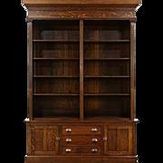 Oak Quarter Sawn 1895 Antique Display Cabinet or Butler Pantry Cupboard