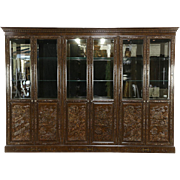 Widdicomb Signed Asian Design Painted Lacquer Lighted 10' China Display Cabinet